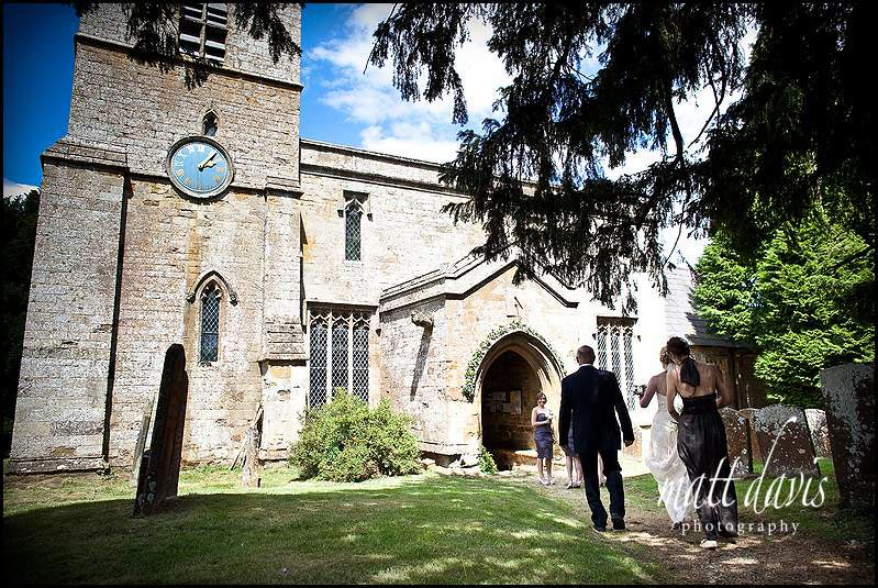 wedding at St Mary's Church, Swerford, Oxfordshire