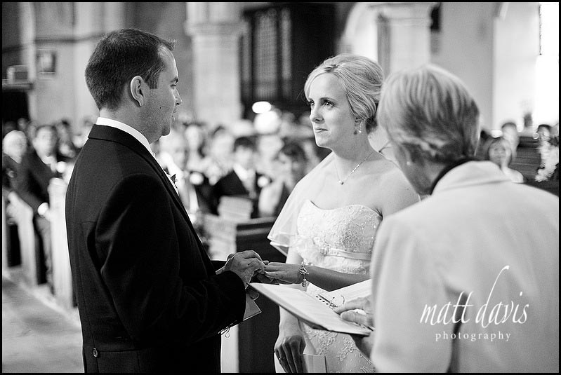 wedding ceremony at St Mary's Church, Swerford