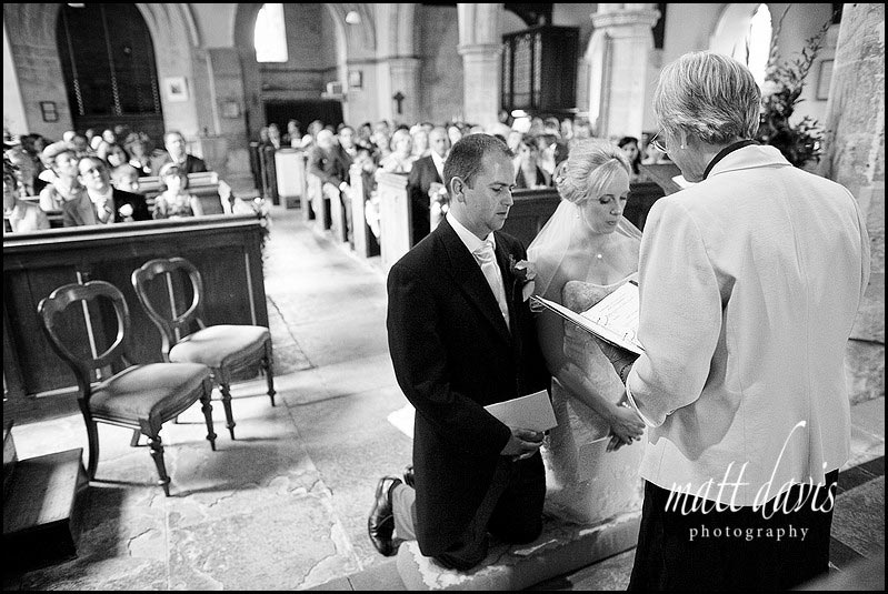 wedding ceremony in St Mary's Church, Swerford