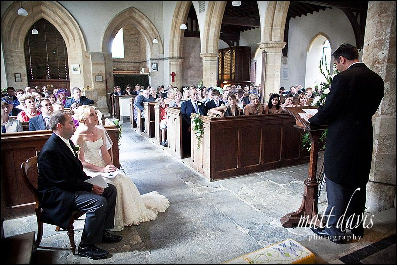 wedding at St Mary's Church, Swerford