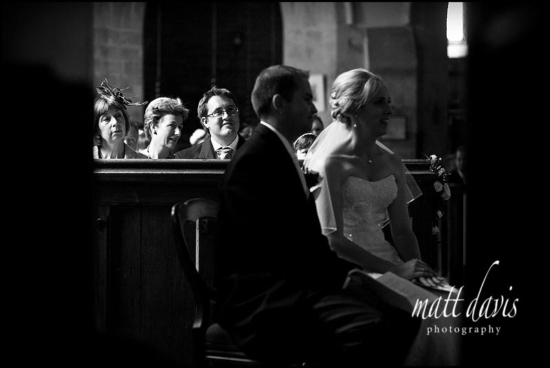 Lovely light in St Mary's Church, Swerford for a wedding