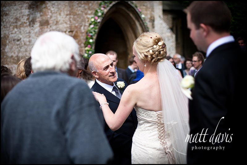 wedding photos at St Mary's Church, Swerford in the grounds