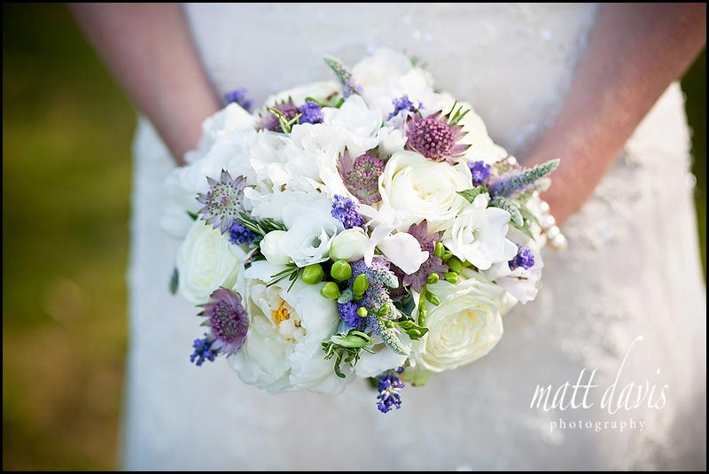 Wedding bouquet with subtle berries