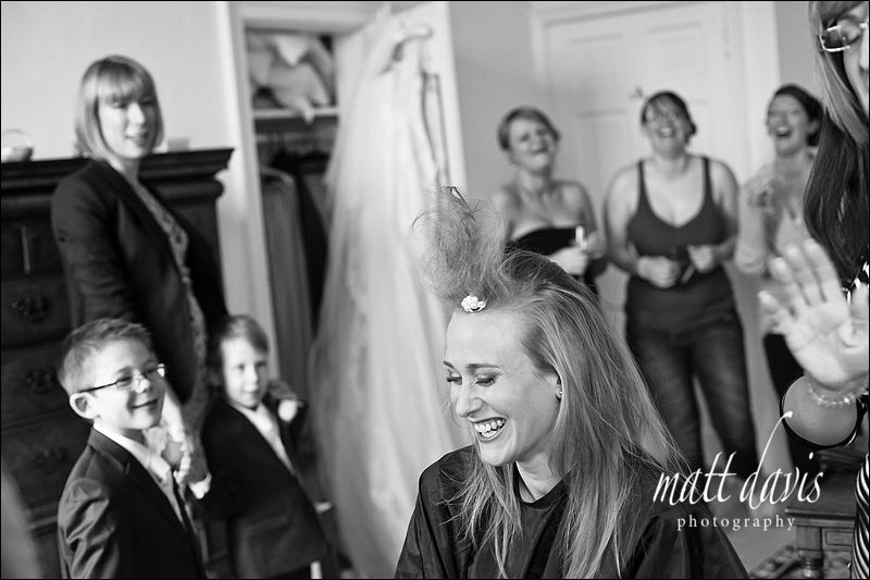 wedding hair at Ardington House