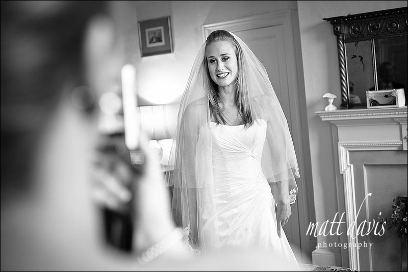 bride at Ardington House wedding