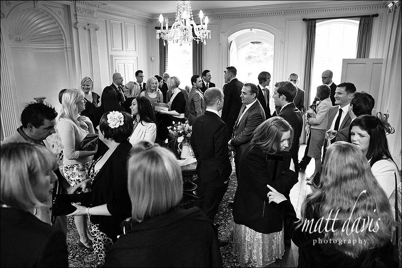 Wedding guests inside Ardington House
