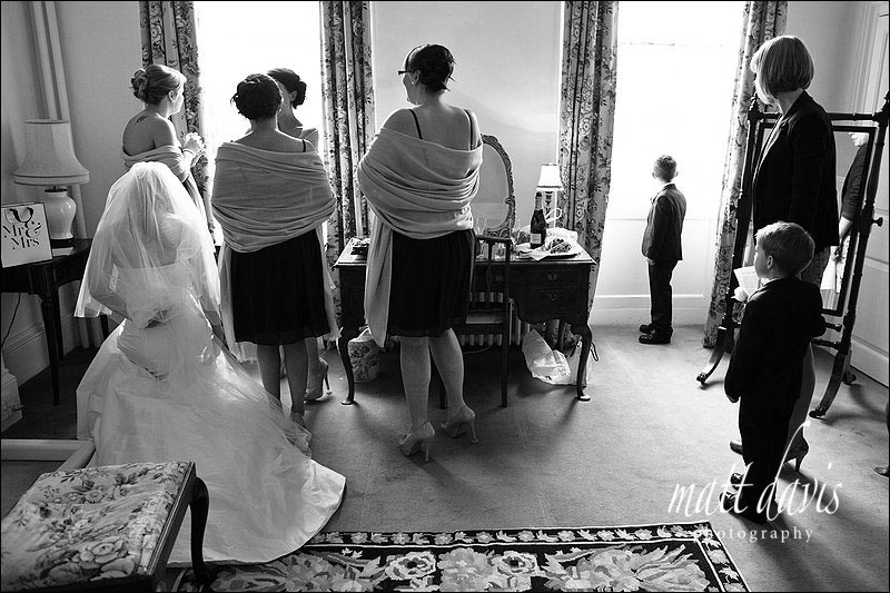 Bride and bridesmaids at Ardington House wedding