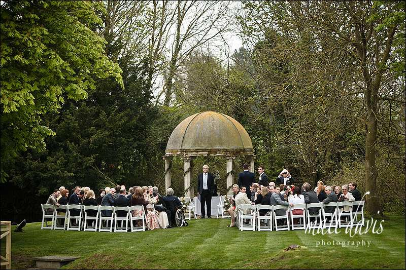 OUtdoor wedding ceremony at Ardington House