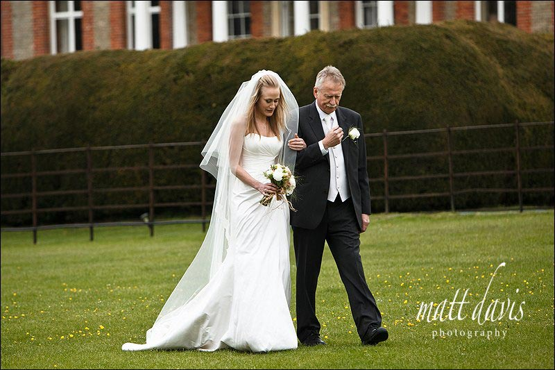outdoor wedding ceremony Ardington House