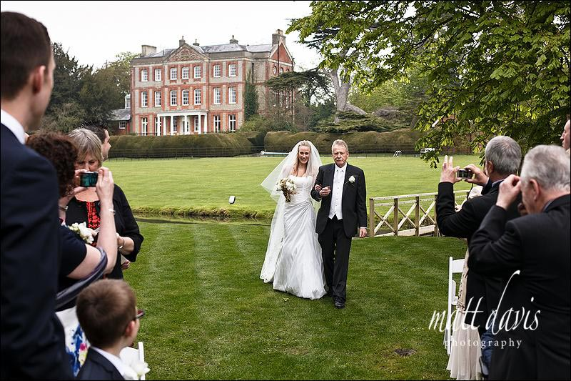 OUtdoor ceremony at Ardington House wedding