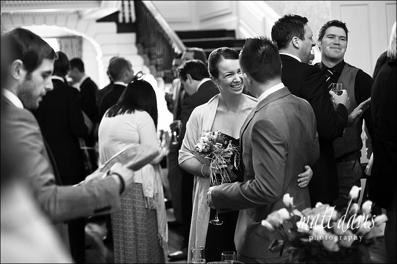 wedding guests inside at Ardington House wedding