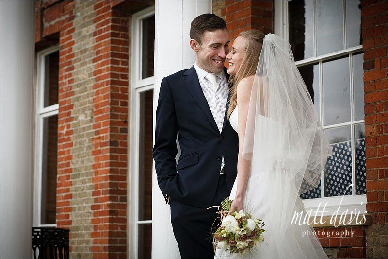 Ardington House wedding photos on steps of veranda