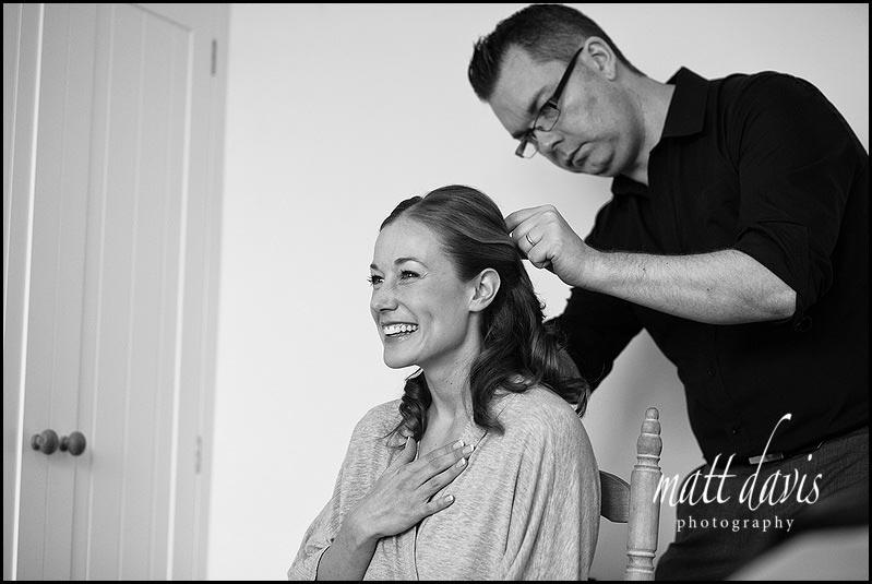 wedding hair styling by Fordham Hair Design