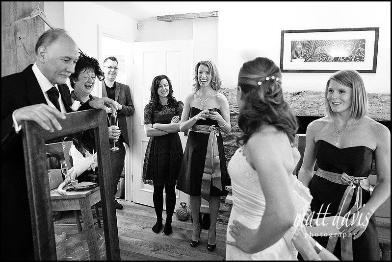 bridal preps at home of bride