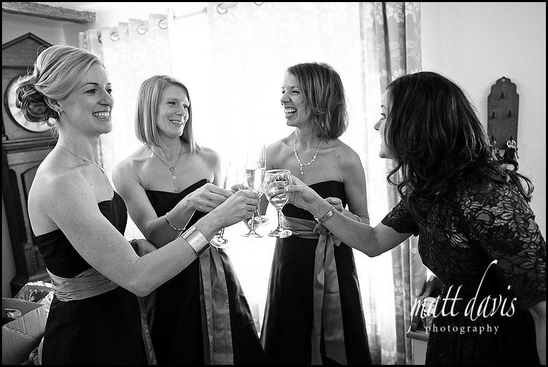 dark bridesmaid dresses for a winter wedding