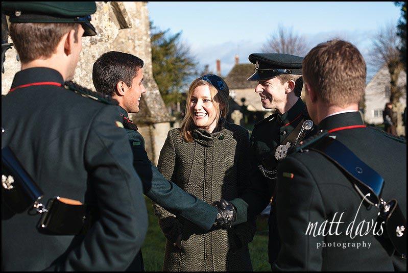 Military wedding at Kington St Michael Church, Wiltshire