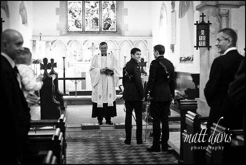 inside Kington St Michael Church for a wedding