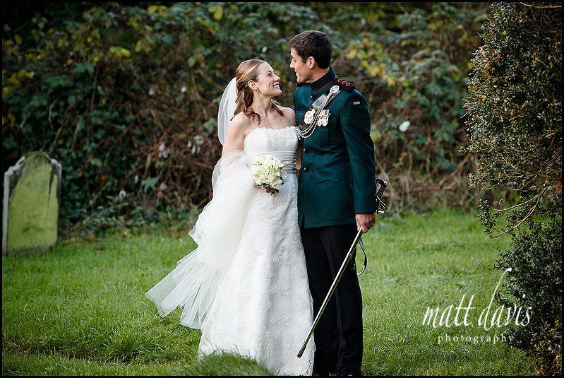 wedding photography at Kington St Michael Church.
