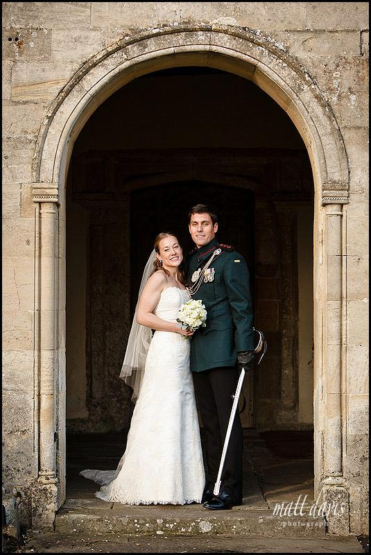 wedding photo at Kington St Michael Church.
