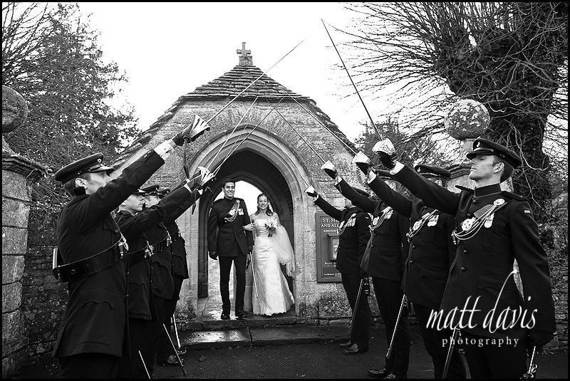 guard of honour at wedding