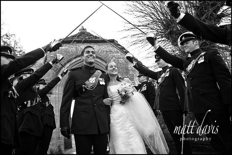 Military wedding guard of honour