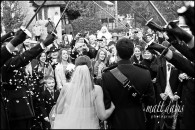 Kingscote Barn winter wedding photos – Benedict & Emma