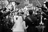Kingscote Barn winter wedding photos – Benedict & Emma