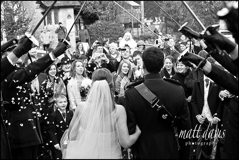 Documentary Wedding Photography of guard of honour