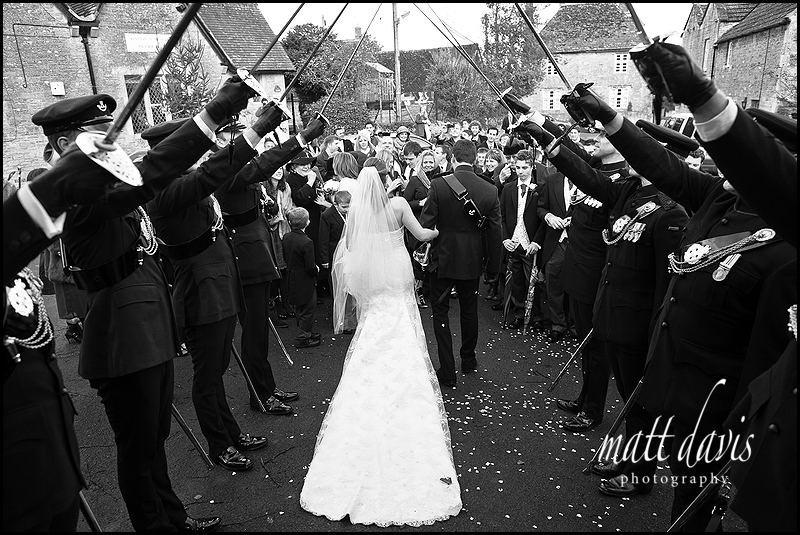 guard of honour at military wedding