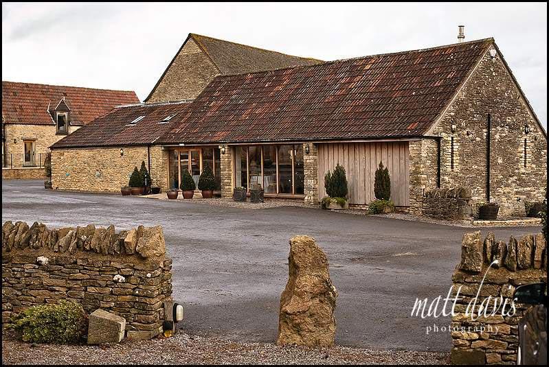 Kingcote barn wedding venue main entrance