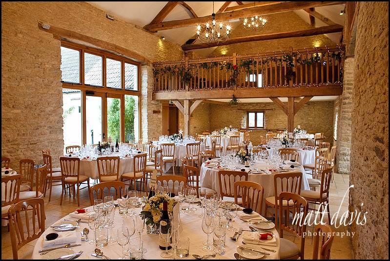 inside Kingscote Barn