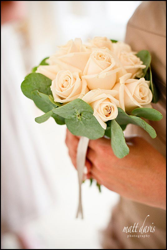 wedding flowers for bridesmaid with delicate cream roses