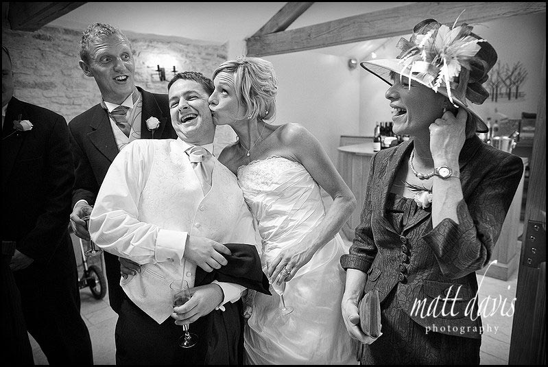 Kingscote Barn documentary wedding photography