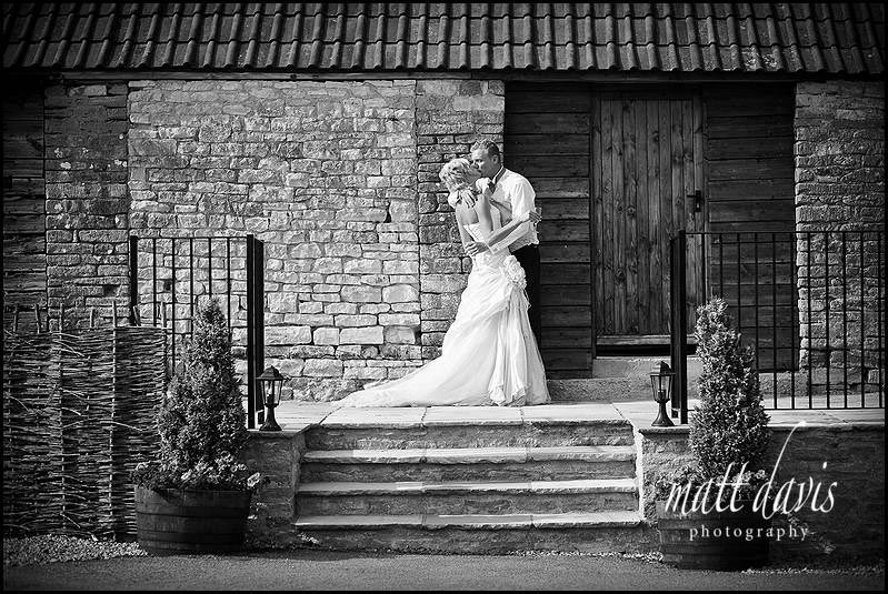 Kingscote Barn wedding photography near the guest accommodation