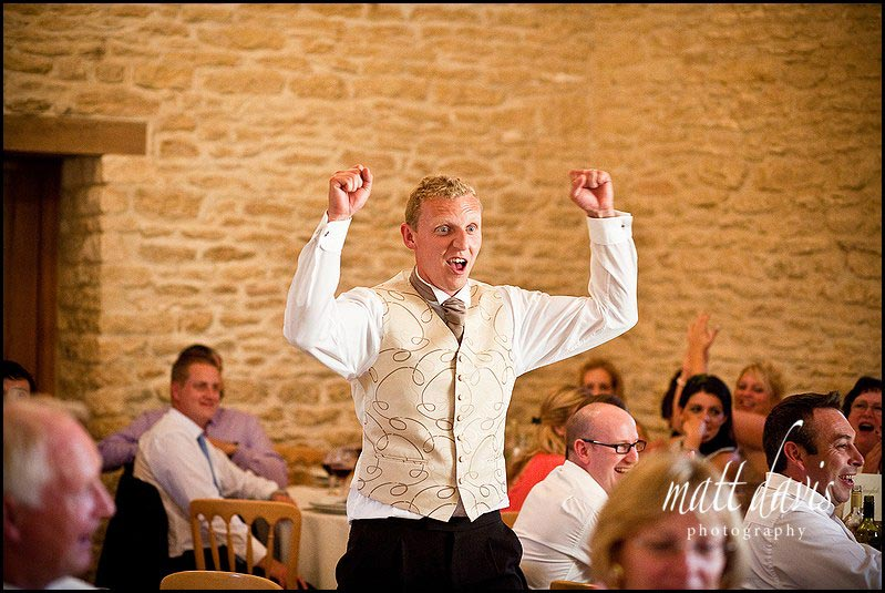 Kingscote Barn wedding speeches