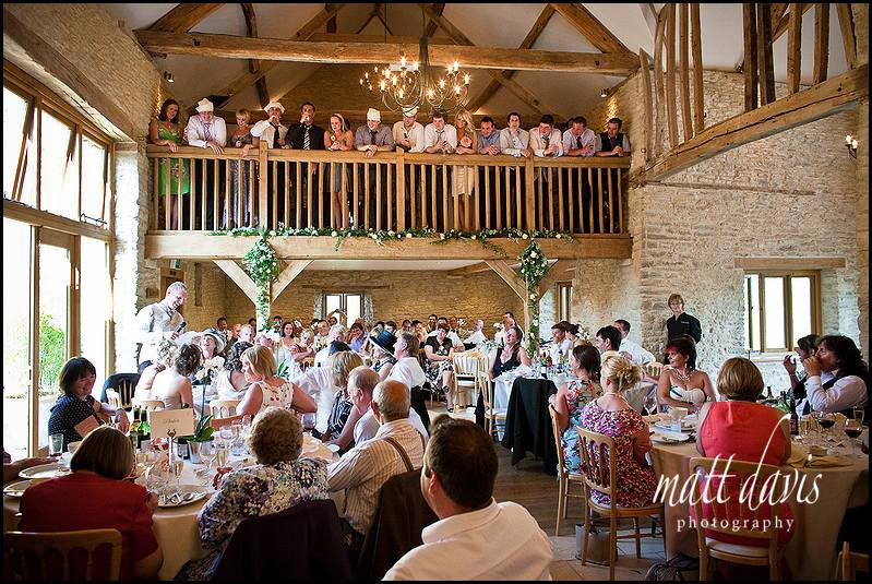 Kingscote Barn wedding with over 120 guests