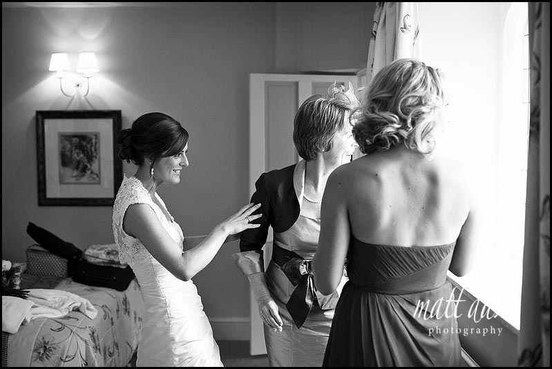 bride before ceremony at Manor House Hotel wedding