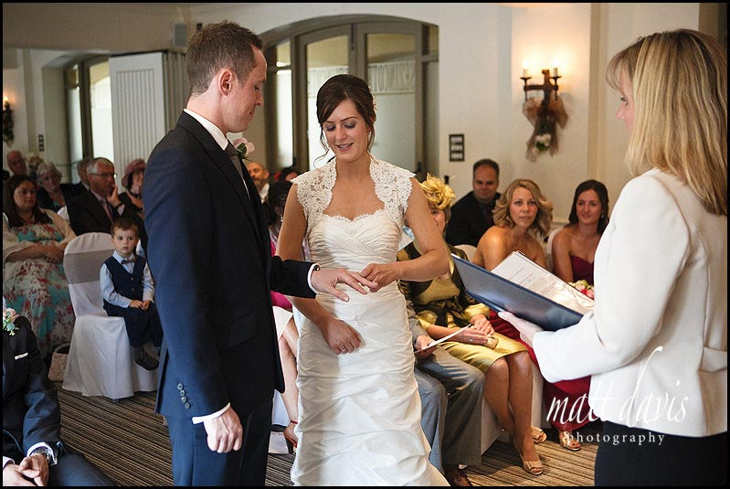 colour photo of wedding ceremony at Manor House Hotel