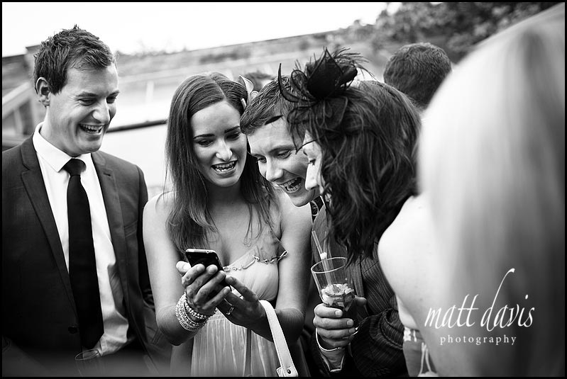 guests during the wedding drinks reception at Manor House Hotel