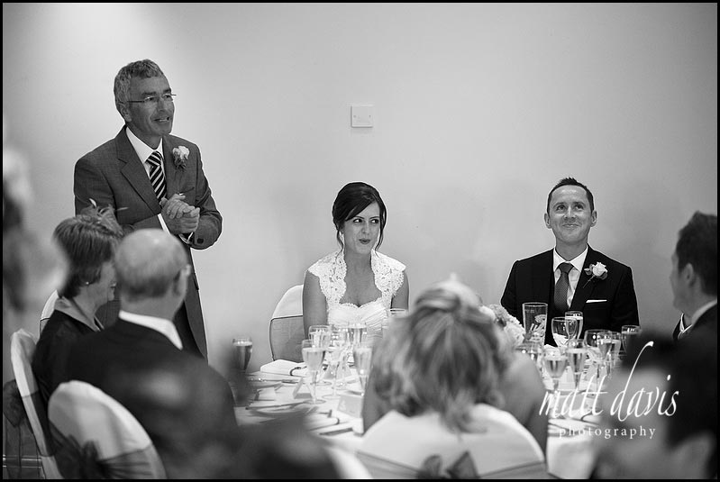wedding speeches at  Manor House Hotel wedding
