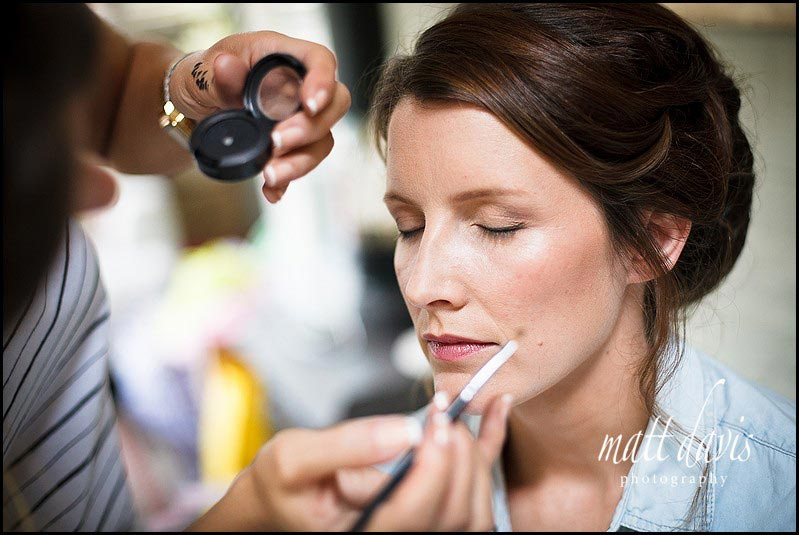 Bridal make-up gloucestershire
