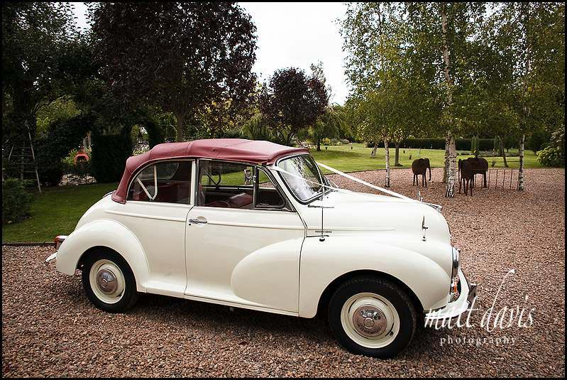 Morris Minor vintage wedding car