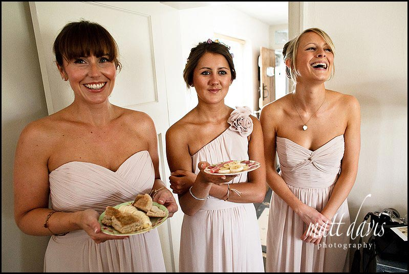 individual bridesmaid dresses in champagne