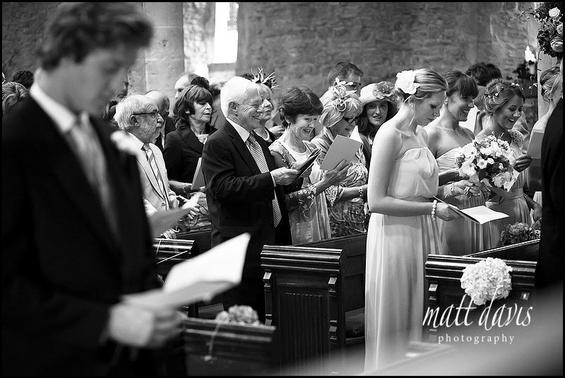 Documentary wedding photography in Church of guests
