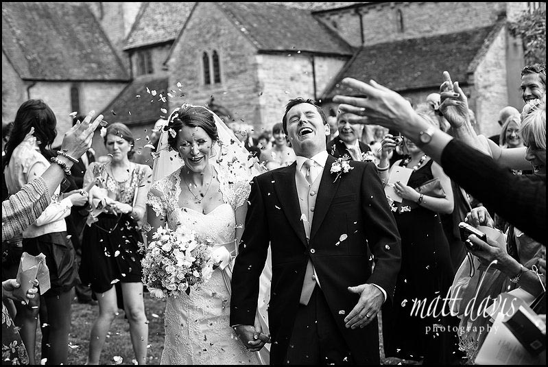 Confetti thrown at Ripple church, Gloucestershire