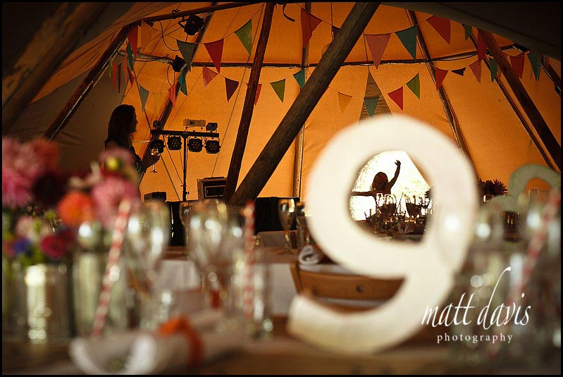 inside wedding tipi Marquee wedding photos