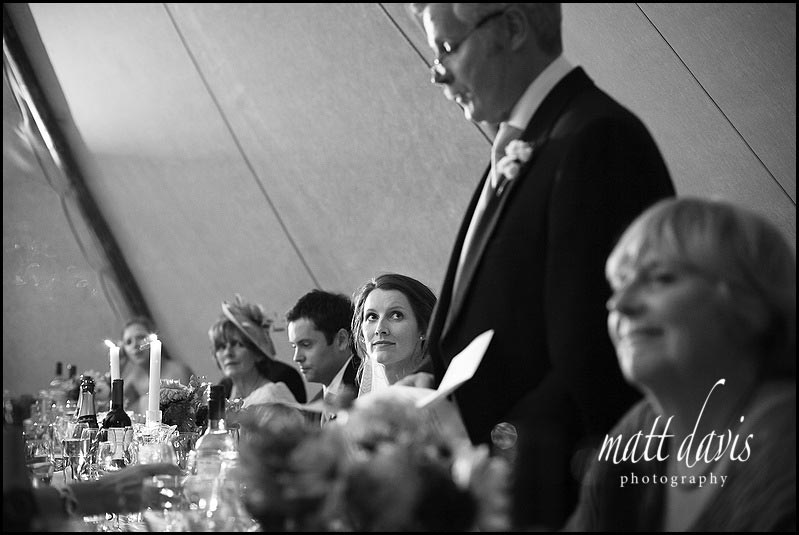 Wedding speeches at tipi weddings