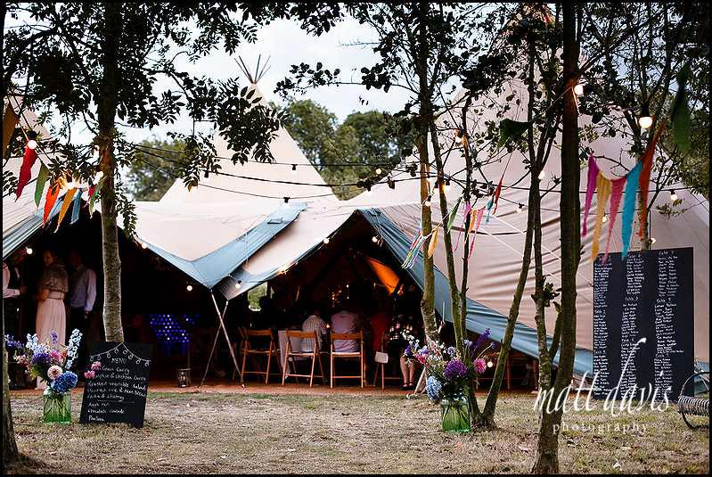 Marquee wedding photos of tipi
