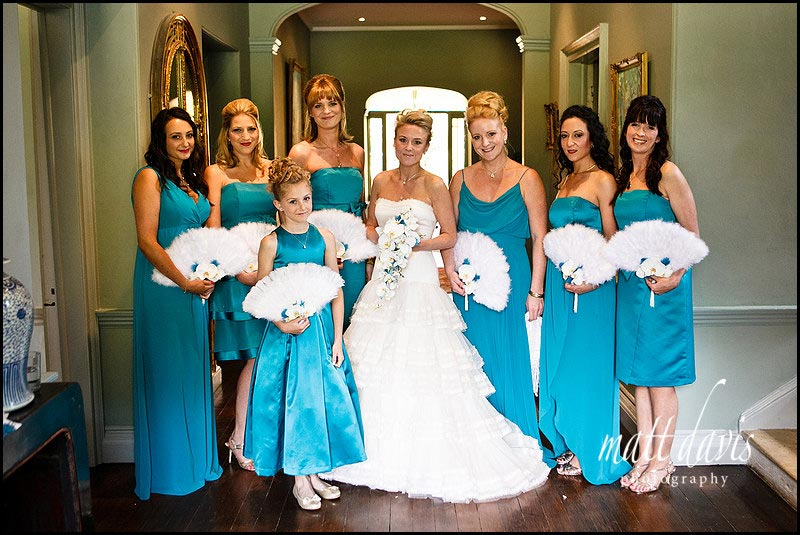 seven bridesmaids in bridal party at Matara