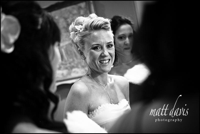Bride smiling at Matara wedding